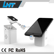 Mobile phone retail security alarm retractable steel cable