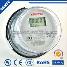 DDS7666 Single-phase two-wire electronic stop digital electric meter glass cover