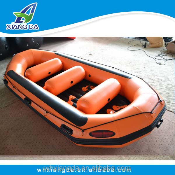 Inflatable river raft pontoon fishing boat