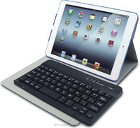 hot seller detachable chocolate key cap bluetooth keyboard and swivel case combo for ipad mini