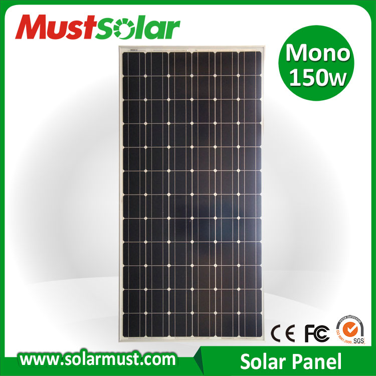 High Efficiency 150 Watt Roof Solar Panel for Building