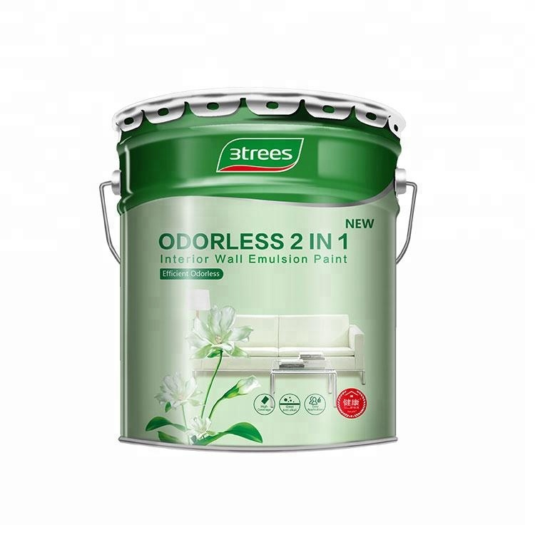 3TREES Acrylic Odorless 2 in 1 Interior Wall Emulsion Paint
