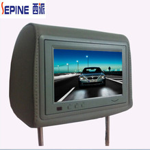 headrest advertising display 7 USB taxi car back seat lcd with SD card