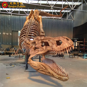 Showroom theme exhibition realistic real size resin dinosaur skeleton model