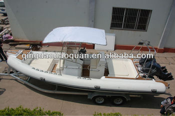 8.3m rigid inflatable boat/rib boat/yacht tender/yacht dinghy/fishing boat/speed boat