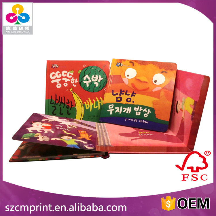 Hot sale high qualiy interesting children English story book,thick cardboard book printing