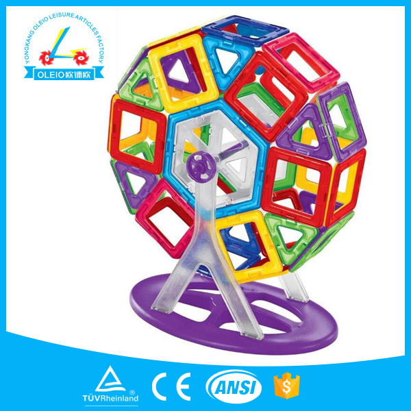 209pcs Electric with music toys plastic tiles magnetic building blocks kids