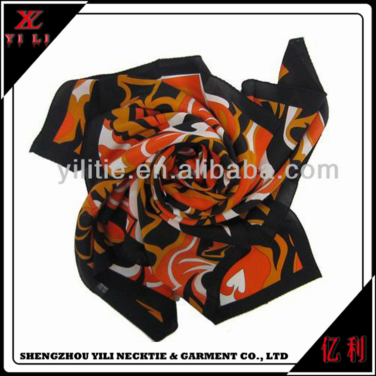 Bulk sale women custom printed thai silk scarf shawl