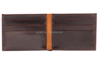 Vegetable tanned leather wallet with card slot Rfid Blocking bifold wallet leather