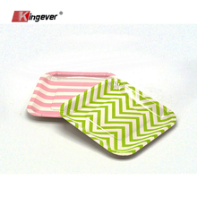 Custom printed paper tray rectangular party paper plates
