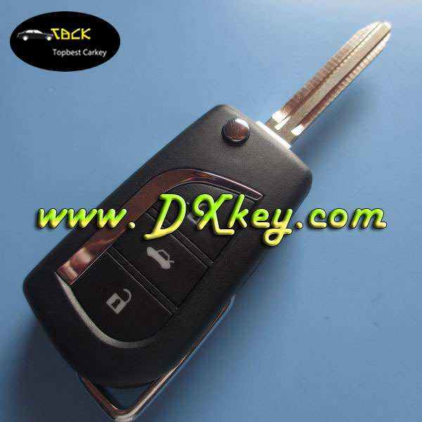 For before 2013 Camry Yaris 315 mhz 3 buttons toyota smart key toyota car remote key with toy43 key blade