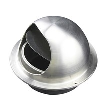 304 Stainless steel wall air vent cap without screen mesh