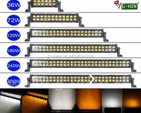 New design 4*4 dual color led light bar Offroad from cn360 offroad led spot light bar