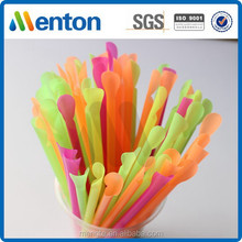 Decorative plastic spoon straw for sale