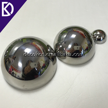 "Large 4"" 6"" 8"" 10"" inch silver color stainless steel mirror half sphere"