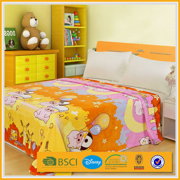 cheap comfortable fashion design brushed print polyester bedding set