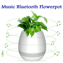 Factory wholesale Touch Music Flower Pot with Bluetooth Speakers Music Waterproof Rechargeable Flowerpot