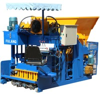 FL10-15 automatic mobile cement hollow block making machine