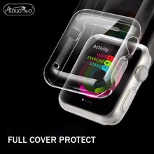 HD Clear Soft TPU Gel Protector Armor Case For Apple Watch 38mm 42mm