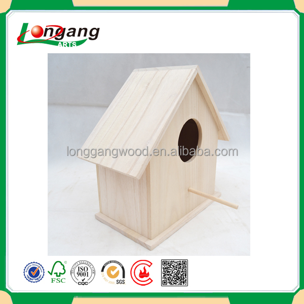 no printing cheap bird feeder house animal protection use eco-friendly wooden bird cage