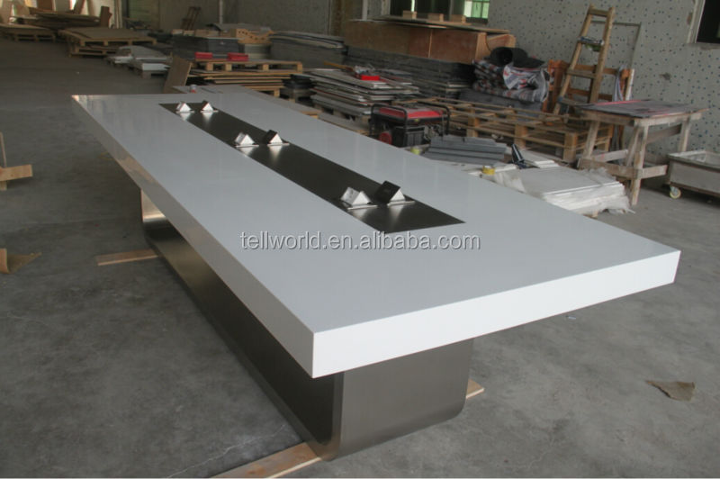 modern white meeting table/luxury conference table/contemporary boardroom table