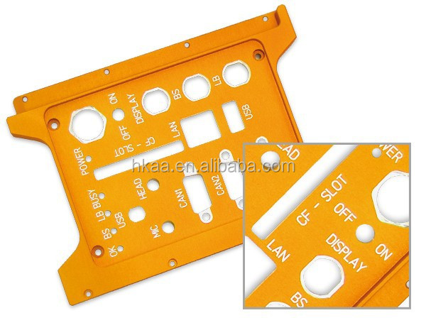 High precision anodizing aluminum custom amplifier front panel, face plate