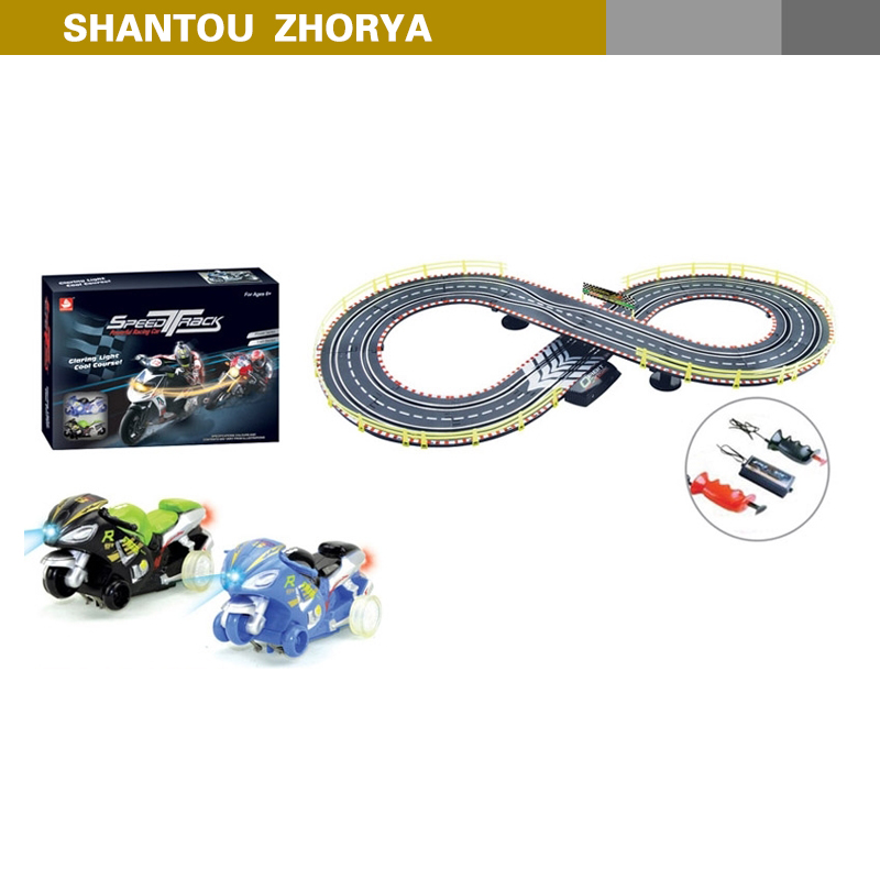 Zhorya BO 292cm light plastic motorcycle track car toys