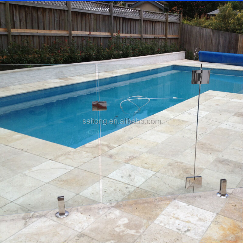 Tempered glass swimming pool fence panel