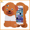 cute Poodle dog silicone back cover case for iphone 5