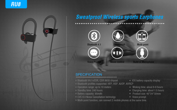 New Arrival IPX-4 Waterproof Invisible Wireless Bluetooth Wholesale Silent Disco Headphone for Smartphone RU8