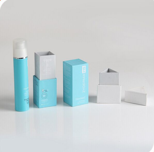 Triangle shaped cardboard gift box for essential oil bottles packaging