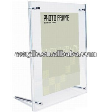 Clear acrylic metallic strut paper frames for photos