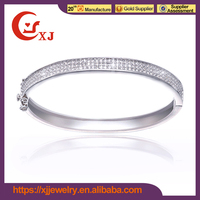 Latest Design White CZ Indian Jewelry Bracelet Bangle Kada