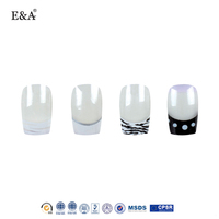 EA girls fake nails glamour nail art artificial french nail tips