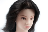 Factory Price Silky Straight Mannequin Training Head Natural Black 100% Human Hair For Salon Practice