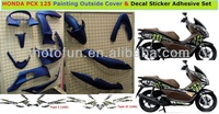 [MOS]PCX 125 PCX125 Painting Outside Cover Decal Sticker Adhesive Set