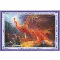 New Phoenix Pattern Embroidery Diamond Rhinestone Painting DIY Kit Cross Stitch Fabric
