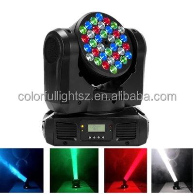 36x3w RGB Mini <strong>Led</strong> Moving Head Beam Wash Spot Light Dj Disco Club Party Wedding Stage Effect Lighting