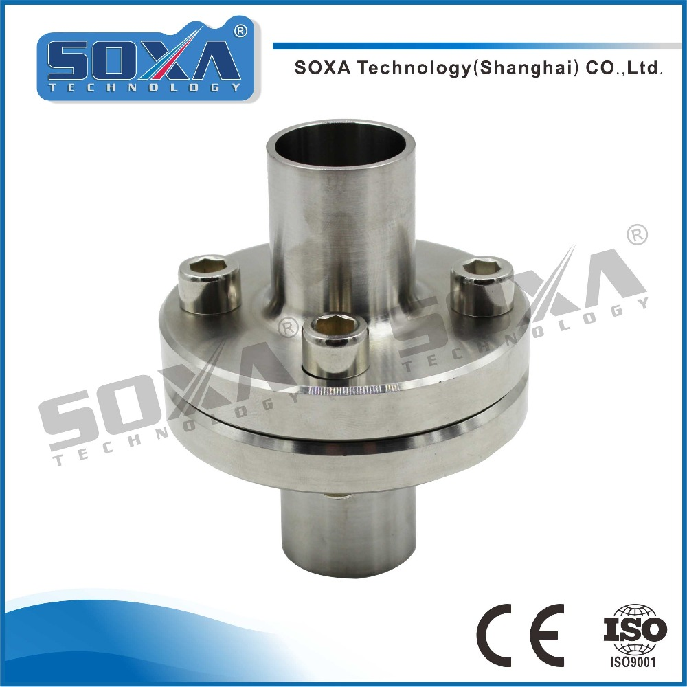 Stainless steel 304/316L cast blind flange end joint connection with threaded nut