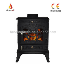 Indoor wood burning modern style stove