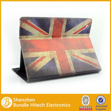 High quality Stand PU leather UK Flag case for iPad