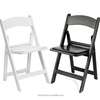 PP White Resin Americana Folding Chairs