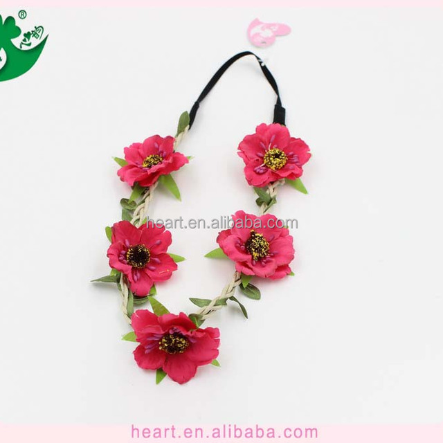 Fresh Style Flower Head Wreath with DIY Customized Desined Cloth Flower or Foam Flower 02091