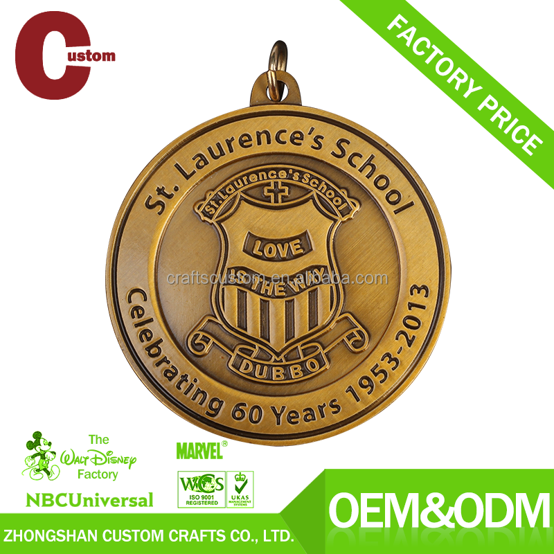 Personalized metal graduation medal manufacturer