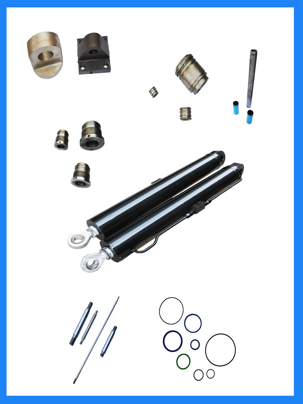 chrome material double acting hydraulic cylinder piston rod