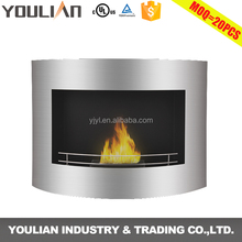 Interior modern decoration bio ethanol fireplace wall mounted surround