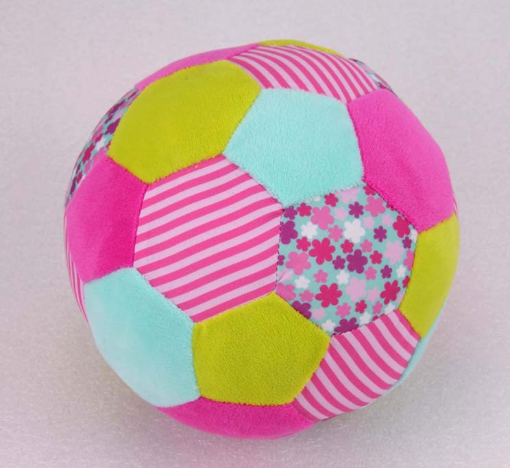 Colorful plush ball for kids stuffed ball with bell inside meets EN71, ASTM