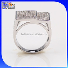 Best Seller 925 Silver Micro Pave CZ Men Ring,Wholesale 925 Sterling Silver Arab Men Ring