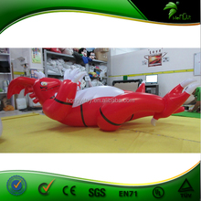 Cheap Inflatable Lying Red Dragon / Customize Inflatable Red Flame Dragon