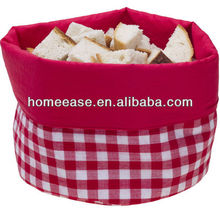 cotton basket bread holder